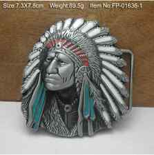 Chief of Indian Cowboys Cowgirls Metal Belt Buckle Texas Fashion Mens Western