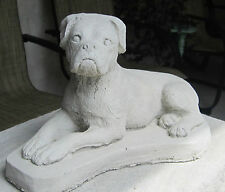 CONCRETE BOXER  UN-CROPPED DOG STATUE / MONUMENT