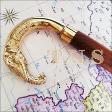 New Brass Elephant Designer Wooden Walking Canes Walking Stick Nautical Gift
