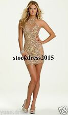 Evening Dress Shiny Beaded Short Prom Sexy Cocktail Party Pageant Celebrity Gown