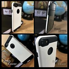 Apple iPhone 6 & 6S Case Metal Effect Tech Premium Protective Layer Rugged White