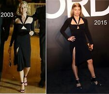 Gucci Tom Ford Cut Out Black Dress ASO Fergie in '15 @ TF Show & Naomi in '03 S