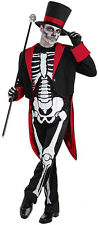 MENS SKELETON MR BONE JANGLES BOND COSTUME HALLOWEEN DAY OF DEAD OUTFIT NEW M/L