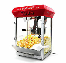 Paramount 8oz Popcorn Maker Machine - New Upgraded 8 oz Hot Oil Popper [Red]