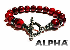 Red High Fashioned Men's and Women's Beaded Bracelet by Alpha Life