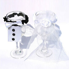 Wedding Party Wine Glasses Toasting Cup Costume for Bride&Groom 1 pairs