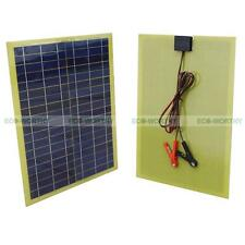 20W Epoxy Solar Panel W/ Cable & Battery Clip Lightweight for 12V Car Battery