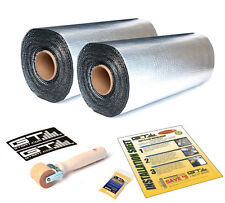 "NEW 50 SqFt (Two Rolls 18""x17') GTMAT 80mil Ultra Thick Sound Deadener Material"