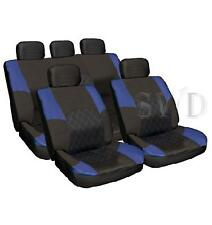 Leather Look Pads Car Seat Cover Set BLUE Custom Racing Sports Universal Fit New