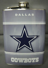 DALLAS COWBOYS GREY CLASSIC LOGO 8oz STAINLESS STEEL FLASK