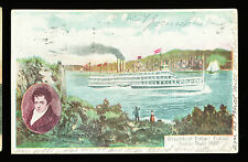 1909 Steamboat Robert Fulton Postcard - Hudson River Day Line