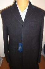 Polo Ralph Lauren Navy Melton Wool Topcoat (Trim Fit) NWT XL $995 Made in Italy