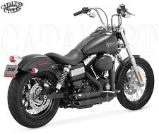 Vance and Hines Black Shortshots Staggered for Harley Dyna Exhaust 12-16 | 47227