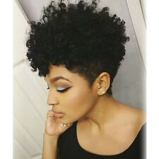 Fashion Short kinky Curly Wig For Black Women short pixie Africian Americian wig