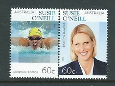 AUSTRALIA 2012 SUSIE O'NEILL SPORTING LEGEND PAIR UNMOUNTED MINT, MNH