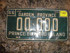 1968 PRINCE EDWARD ISLAND SAMPLE LICENSE PLATE 000000