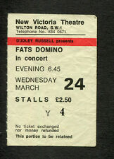 Original 1965 Fats Domino Concert Ticket Stub New Victoria Theatre London