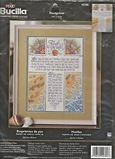 FOOTPRINTS...IN THE SAND - Inspirational Counted X-Stitch Kit by BUCILLA #42760