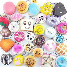 20PCS/lot Random Squishy Jumbo Mini Panda Cone Donuts Toast Turtle Cartoon Gifts