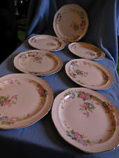 1937 Set of 7 Knowles USA China Plates in the Morning Glory Pattern