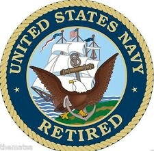 NAVY RETIRED MILITARY SEAL HELMET CAR BUMPER DECAL STICKER MADE IN USA