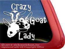 Crazy Goat Lady | Nigerian Dwarf Goats Vinyl Window Decal Sticker