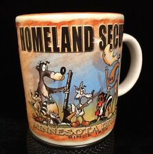 Homeland Security Minnesota Division Coffee Mug Cup Animals Moose Raccoon Humor