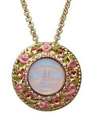 KIRKS FOLLY Expect Miracles Seaview Moon Pin/Pendant Necklace (Goldtone) NEW