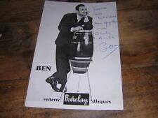 1960. autographe de BEN .chanson musique