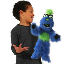 "PRO 20"" FULL BODY DUMMY PUPPETS BLUE MONSTER WITH ARM ROD"