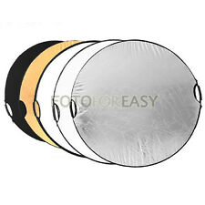 "32"" 5in1 Handheld Light Mulit Collapsible disc Photograph Studio Reflector 80cm"