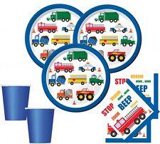 32 Teile Fahrzeug Stau Party Deko Basis Set zum Kindergeburtstag für 8 Kinder