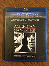 American Gangster (Blu-ray/DVD, 2011, 2-Disc Set, Extended) LIKE NEW, NEVER USED