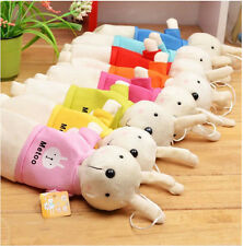 Cartoon Rabbit Plush Pencil Bag Cotton Stationery Case Baby Infant Gifts Case