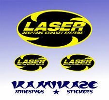 PEGATINA STICKER AUTOCOLLANT ADESIVI AUFKLEBER DECAL LASER EXHAUST