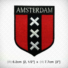 new AMSTERDAM EMBROIDERED PATCH IRON ON or SEW on clothes decorate your style