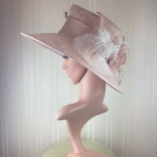 Vivien Sheriff PINK Hat Formal Occasion Races Mother of Bride Wedding Guest