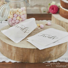 BOHO TREAT BAGS x25 -Sweet/Sweetie Bar/Candy Buffet- White Vintage Wedding/Party