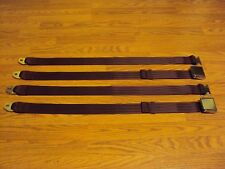(2) Buick Chevy GM Pontiac Oldsmobile Muscle Car Rat Hot Rod Seat Belts Maroon