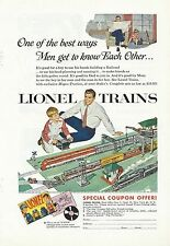 Vintage Printed Lionel Trains One of the besy ways men get to know each other