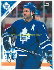 DOUG GILMOUR Auro SIGNED 8.5x11 Photo TORONTO MAPLE LEAFS HOF GREAT WoW