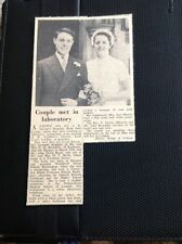72-7 Ephemera 1957 Picture  Wedding Jill Brenchley Rochester/ Margate J Bertie