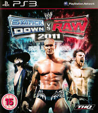 WWE SMACKDOWN Vs. Raw 2011 (Sony Playstation 3, 2010) Spedizione Gratuita UK