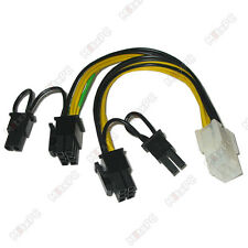 "16"" PCI 6-pin to 2 x 8-pin PCI-E Power Cable Splitter"