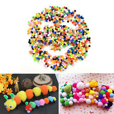 Hot 1000X Small Tiny Round Fluffy Wool Pompoms PomPoms 10mm for Childrens Crafts