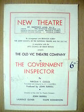 New Theatre OLD VIC CO. Programme 1948- THE GOVERNMENT INSPECTOR~Nikolai V Gogol