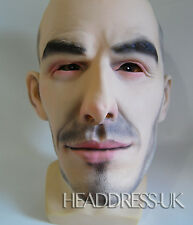 DAVID BECKHAM Realistic Man Celebrity Football Overhead Latex Mask Party