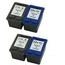 4 Refilled Ink Cartridges for HP22XL C9352C C9352AE and HP 21XL C9351C C9351AE
