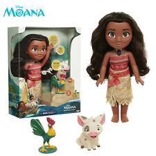 Disney Singing Moana HeiHei Pua Action Figures Doll Light & Movie Song Kids Toy