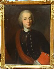 Large 18th Century Dutch Master Portrait Captain Muller Antique Oil Painting